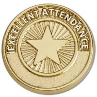Attendance Pin Badge             -SB057